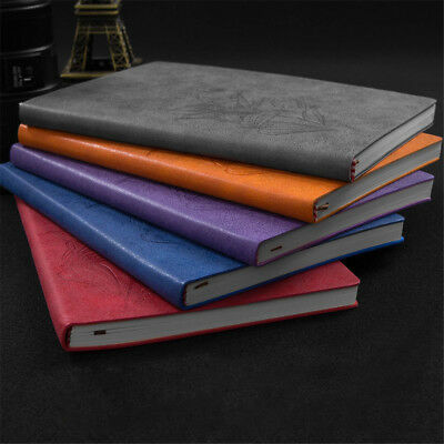 A5 PU Leather Journal Cover Vintage Notebook Lined Paper Diary Planner
