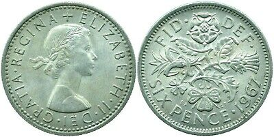 1953-1967 Lucky Sixpence Of Elizabeth Ii.  Choose Your Date!     One Coin/Buy!