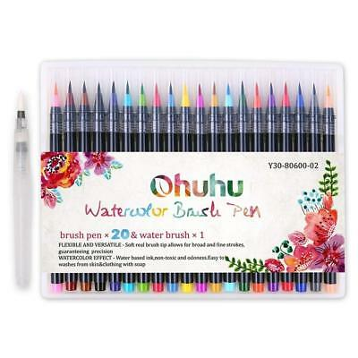 Ohuhu Art Markers Dual Tips Coloring Brush Fineliner Color Pens 60 Colors of...