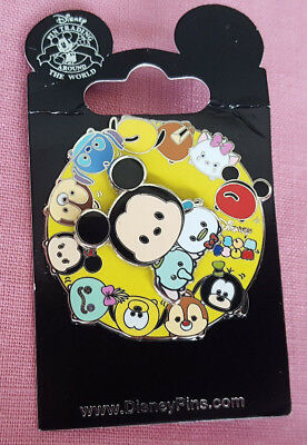 Disney Parks Pin Tsum Tsum Spinner Mickey Mouse Donald New On Card Open Edition