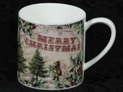 ROSE of ENGLAND MERRY CHRISTMAS Fine Bone China Cylinder Medium Mug #2b