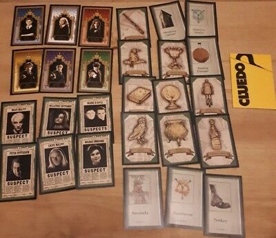 Games Cluedo Spare Replacement Pieces Weapons Cards Waddingtons 1965