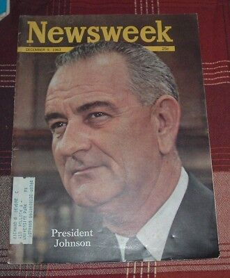 1963 NEWSWEEK Magazine PRESIDENT LYNDON B JOHNSON Jacqueline Kennedy Oswald Ruby