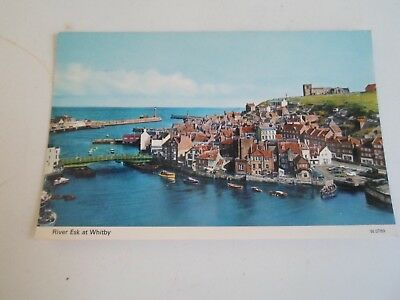 RIVER ESK AT WHITBY, N. Yorkshire (W.0789) Vintage Photocolour Postcard §R210
