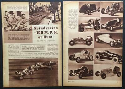 Spindizzies Tether Racers 1941 vintage pictorial Dooling Hiller Comet
