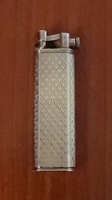 Classic Vintage Lighter Dunhill Sylphide Argento Placcato D'oro Not Working Nice