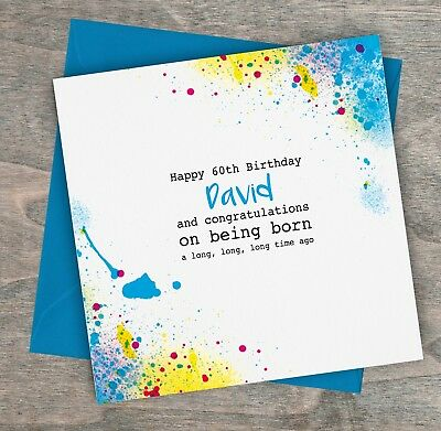 Personalised Handmade Funny Birthday Card Dad Son Brother Man 40th 50th 60th 65