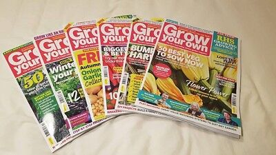 Grow Your Own gardening magazine bundle 6 issues 2018 July- Dec FREE POSTAGE