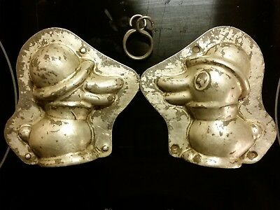 Duck With Hat Ente Canard Bird Dutch Chocolate Mold Vintage Antique