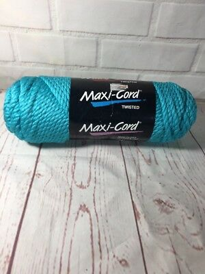 Maxi-Cord Macrame Twisted 6mm 100 YDS (91 M) polypropylene Turquoise