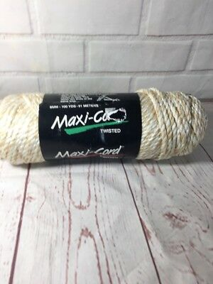 Maxi-Cord macrame twisted 6mm 100 YDS (91 M) polypropylene Light beige Oatmeal