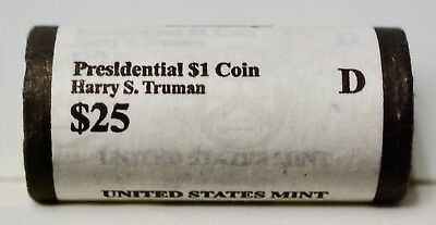 2015   Harry S. Truman President Dollar Coin US Mint Sealed Roll  DENVER MINT