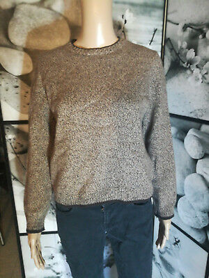 71eb1fa7ca39d PULL COURT col rond chiné 80% laine marque zara taille 38 - EUR 8,00 ...