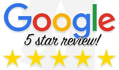 Five star review on Google or Yell