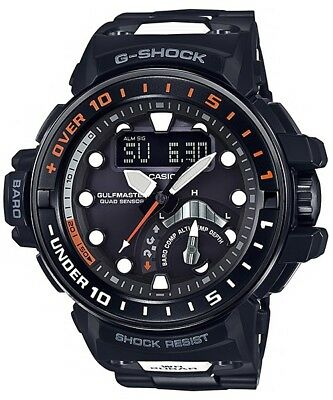 G-Shock Gulfmaster All Black With Resin Composite Band - Gwn-Q1000Mc-1A