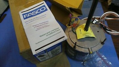 1- Fasco D908  Condenser Fan Motor 1/3 HP 1075 RPM 208/230V 1 PH 2.4A NEW in Box