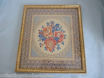 Beautiful Framed  Chinese Floral  Embroidery With Silver Threads