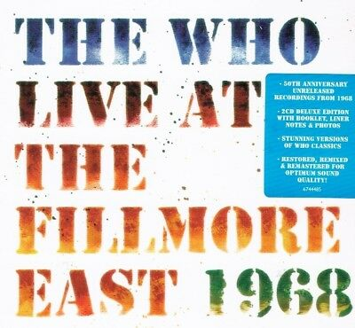 The Who - Live At The Fillmore East 1968 2 CD Set  New Sealed Fast Free Shipping