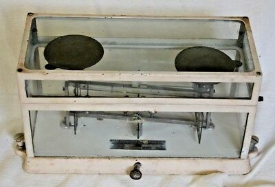 Antique Chemists Jeweler Pharmacy  Torsion Balance Co Scale