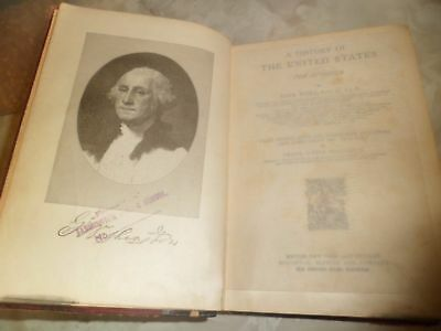 1899 Antique Book History of the United States for Schools Teachers John Fiske