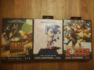 * Sonic The Hedgehog - Ultimate Soccer - Jungle Strike * Sega Mega Drive