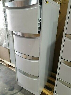 Stilford 4 Drawer Filing Cabinet White New in open box with key in box as new