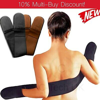 Luxury Back & Body Velvet 3 in 1 Self Tanning Mitt Fake Tan Applicator Gloves