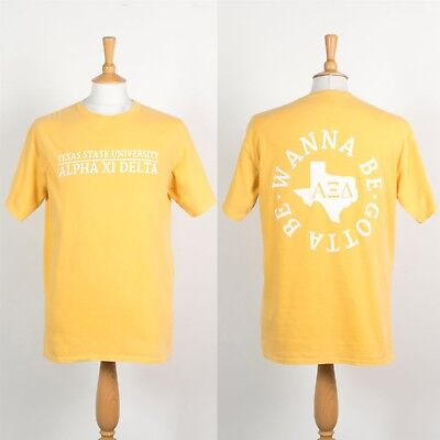 Vintage Texas State University T-Shirt Alpha Xi Delta Sorority Fraternity M