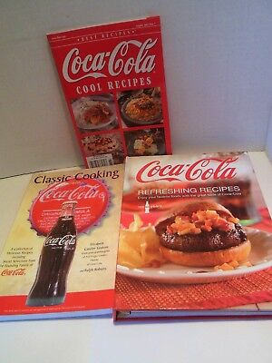LOT 3 Coca Cola Cookbooks Coke Cool Refreshing Recipes Classic Cooking Baking