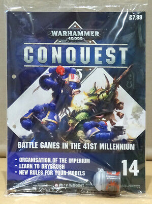 Warhammer 40,000 40k Conquest Issue 14 with Mechanicus Standard Grey plus brush