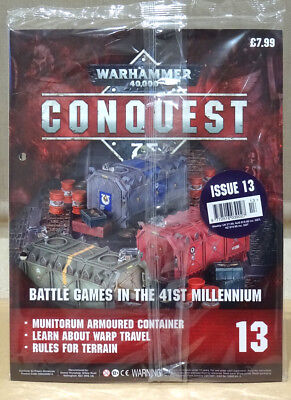 Warhammer 40,000 40k Conquest Issue 13 with Munitorum Armoured Container