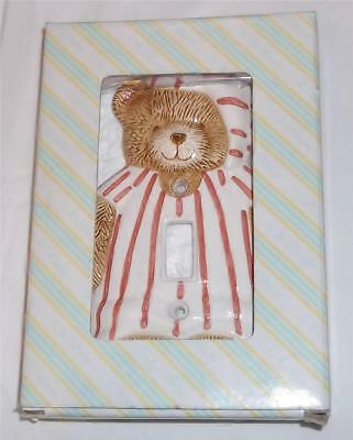 Baby Light Switch Plate, Single, Teddy Bear, Elizabeth Miles, Once Upon a Time