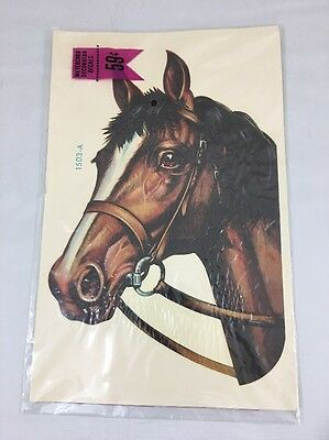 VTG MEYERCORD DECORATOR HORSE HEAD DECAL 1503 - A   New Old Stock