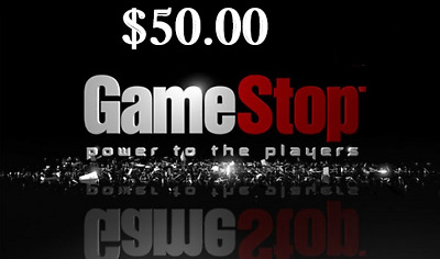 $50 Game Stop Gift Card.... Never Expires! ,,, FREE SHIPPING!