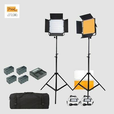 Photography BI-COLOR LED LIGHT KIT 3200-5600K (With Power Adaptors And Battery)