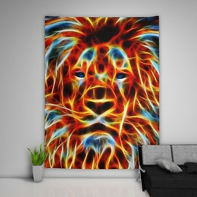 Colorful Lion Wall Hanging Tapestry Psychedelic Bedroom Home Decoration