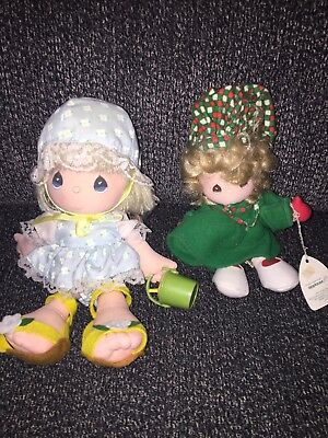 "NWT Precious Moments Plush Dolls Applause 1988 Christmas Spring Pail 10"" 8"""