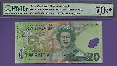 **Exquisite Queen Elizabeth II** New Zealand P-187a $20 Polymer PMG 70EPQ Star