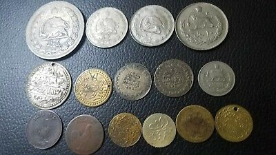 World Arabic Islamic Middle East Coins And Tokens lot of 15