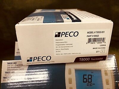 NEW Lot of 3 PECO T8532-001 Programmable Thermostat 3 Heat, 2 Cool