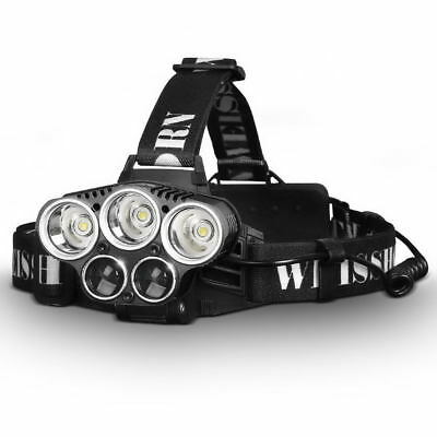 2X WEISSHORN LED Headlamp Rechargeable 90000LM XML T6 Q5