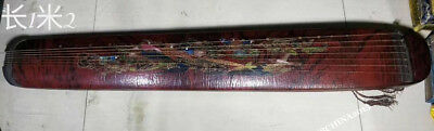 Wood lacquerware Eight Immortals Musical instrument Harp Instrument Strings Qin