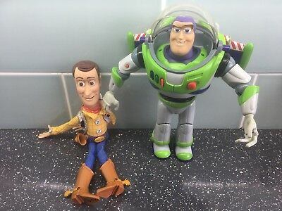 Disney Pixar Toy Story Interactive Pair Of Buzz Lightyear & Woody (Pull String)