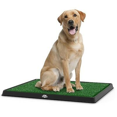 PETMAKER Puppy Potty Trainer Indoor Outdoor Use Detachable Grid Tray Grass Mat