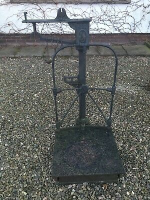Large Architectural Antique Potato Scales Garden Ornament Cast Iron