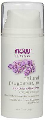 NOW Solutions Natural Progesterone Liposomal Skin Cream with Lavender,3-Ounce