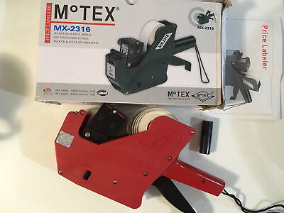 MOTEX MX-2316 10 Digits 2 LINES Price Tag Gun Label Maker KOREA (with Hologram)