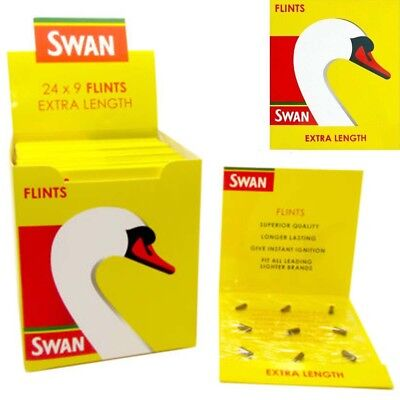 Swan® Lighter Flints Extra Length Replacement Flint x 9 MULTIBUY OFFER Clipper