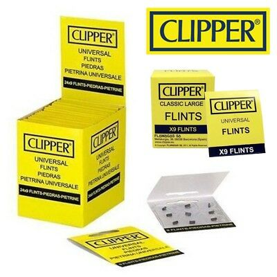 CHEAPEST NEW CLIPPER® Lighter Flint Universal Flints For All Lighters FULL BOX
