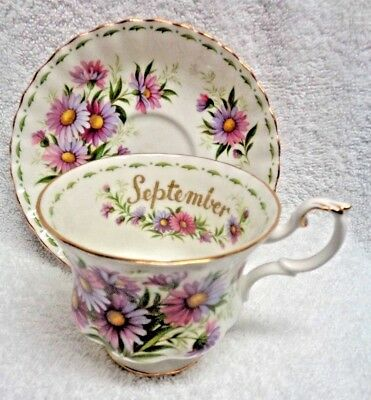 Royal Albert Flower of the Month September Cup and Saucer
